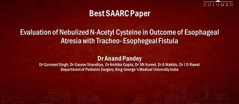 SAARC free paper session – 4th November 2020